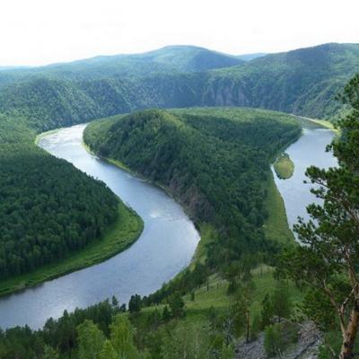 река Енисей манская петля