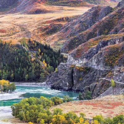 Золотое кольцо Алтая, горная речка Алтая